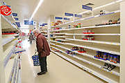 Customers are seen shopping for items meanwhile groceries, meat, as well as hygienic shelves, go empty very fast at most supermarkets in London. For most people, the new coronavirus causes only mild or moderate symptoms, such as fever and cough. For some, especially older adults and people with existing health problems, it can cause more severe illness, including pneumonia. <br /> Coronavirus claimed 144 lives to date of the British people, with 3,269 confirmed positive, as reported by authorities on Friday, March 20, 2020. (Photo/Vudi Xhymshiti)