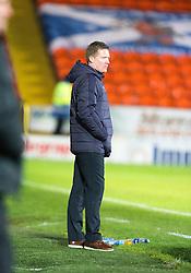 Raith Rovers manager Gary Locke. Dundee United 3 v 0 Raith Rovers, Scottish Championship game played 4/2/2017 at Dundee United's stadium Tannadice Park.