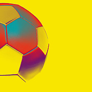 An artistic studio shot of a football (soccer ball) with a photoshop colour harmonies effect. 26th October 2012. Photo Tim Clayton
