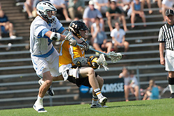 09 May 2009: North Carolina Tar Heels midfielder Chris Hunt (5) during a 15-13 win over the University of Maryland - Baltimore County Retrievers on Fetzer Field in Chapel Hill, NC.