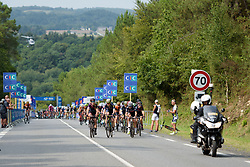 Hannah Barnes sets the pace toward the end of the third lap at Grand Prix de Plouay Lorient Agglomération a 121.5 km road race in Plouay, France on August 26, 2017. (Photo by Sean Robinson/Velofocus)