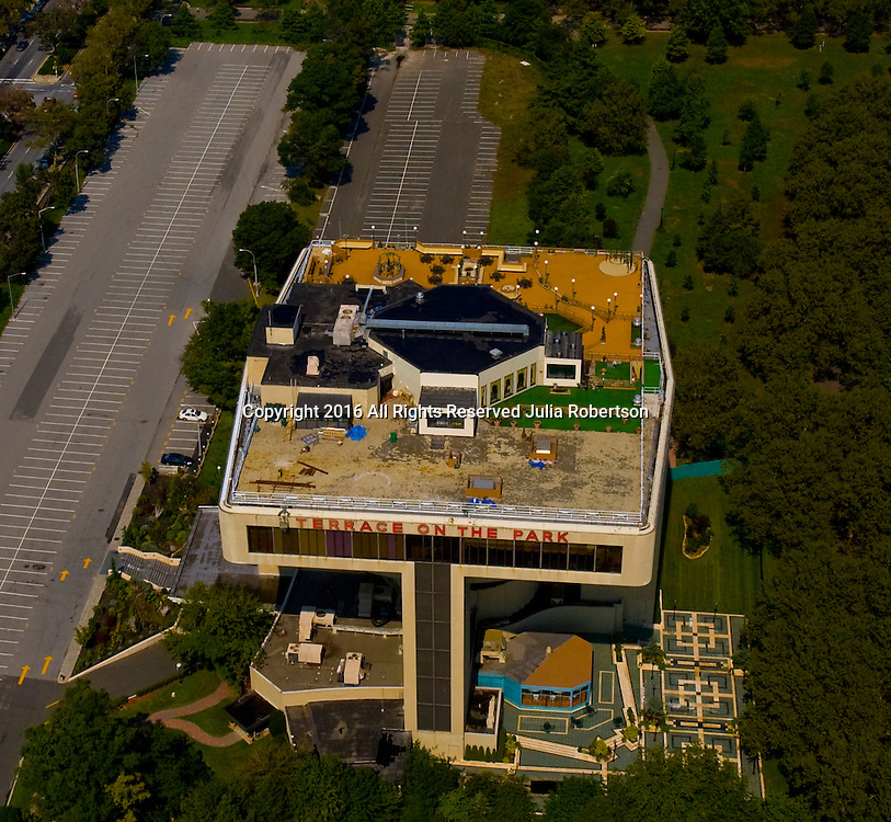 Aerial view of Terrace on the Park, Queens new york