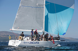 Sailing - SCOTLAND  - 28th May 2018<br /> <br /> Final days racing the Scottish Series 2018, organised by the  Clyde Cruising Club, with racing on Loch Fyne from 25th-28th May 2018<br /> <br /> IRL1335, Spirit of Jacana, AlanBruceJames Douglas, Carrickfergus SC <br /> <br /> Credit : Marc Turner<br /> <br /> Event is supported by Helly Hansen, Luddon, Silvers Marine, Tunnocks, Hempel and Argyll & Bute Council along with Bowmore, The Botanist and The Botanist