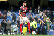 Olivier Giroud of Arsenal during pre-match warm up. Premier league match, Chelsea v Arsenal at Stamford Bridge in London on Sunday 17th September 2017.<br /> pic by Kieran Clarke, Andrew Orchard sports photography.