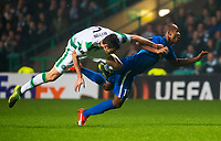 05/11/15 UEFA EUROPA LEAGUE GROUP STAGE<br /> CELTIC v MOLDE FK<br /> CELTIC PARK - GLASGOW<br /> Celtic's Nir Bitton (left) brings down Ola Kamara and is shown a red card