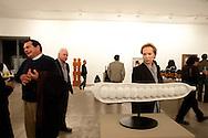 Barranco. Art galleries. During an inauguration at the Galeria Lucia de la Puente.Artist Jaime Liebana