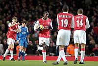 Photo: Ed Godden/Sportsbeat Images.<br /> Arsenal v Wigan Athletic. The Barclays Premiership. 11/02/2007. Arsenal celebrate their equaliser.