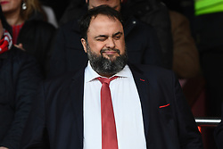 March 9, 2019 - Nottingham, England, United Kingdom - Nottingham forest owner Evangelos Marinakis winks at a Forest supporter during the Sky Bet Championship match between Nottingham Forest and Hull City at the City Ground, Nottingham on Saturday 9th March 2019. (Credit Image: © Jon Hobley/NurPhoto via ZUMA Press)
