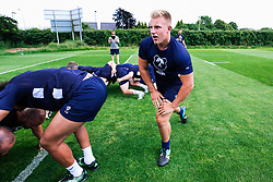 James Dunn looks on during week 1 of Bristol Bears pre-season training ahead of the 19/20 Gallagher Premiership season - Rogan/JMP - 03/07/2019 - RUGBY UNION - Clifton Rugby Club - Bristol, England.