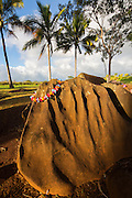 Kukaniloko Birthstones, Waipahu, Oahu, Hawaii, alii, heiau
