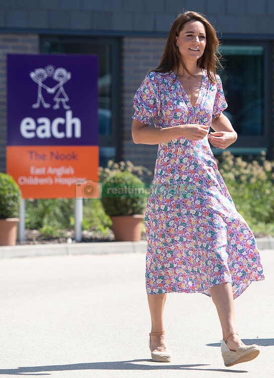 The Duchess of Cambridge visits The Nook, one of the three East Anglia Children's Hospices (EACH). The Duchess is the Royal Patron of the charity which offers care and support for children and young people with life-threatening conditions and their families across Cambridgeshire, Essex, Norfolk and Suffolk, in Framingham Earl, Norfolk, UK on the 28th June 2020. Picture by: Joe Giddens/WPA-Pool. 28 Jun 2020 Pictured: Catherine, Duchess of Cambridge, Kate Middleton. Photo credit: MEGA TheMegaAgency.com +1 888 505 6342