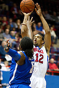Nick Russell #12 of the SMU Mustangs shoots the ball against the Memphis Tigers at Moody Coliseum on Wednesday, February 6, 2013 in University Park, Texas. (Cooper Neill/The Dallas Morning News)