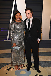 Mindy Kaling (L) and B. J. Novak attending the 2019 Vanity Fair Oscar Party hosted by editor Radhika Jones held at the Wallis Annenberg Center for the Performing Arts on February 24, 2019 in Los Angeles, CA, USA. Photo by David Niviere/ABACAPRESS.COM