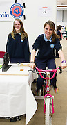 27/11/2016 REPRO FREE:  <br />  Michaeala Ni Mhaille and Enya Ni Chnaimhni Carraroe, in NUI Galway for the exhibition and fun day day of the Galway Science & Technology Festival. <br /> Photo: Andrew Downes, Xposure.