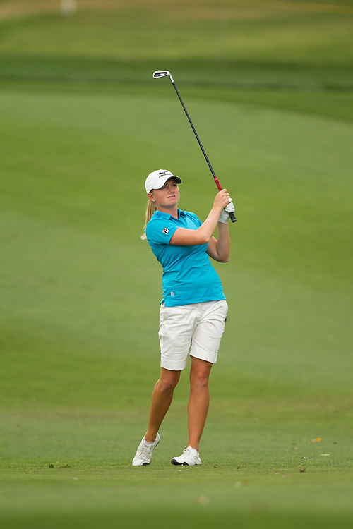 RANCHO MIRAGE, CA - APRIL 2: Stacy Lewis plays a shot during the third round of the 2011 Kraft Nabisco Championship at Mission Hills Country Club in Rancho Mirage, California on April 2, 2011. (Photograph ©2011 Darren Carroll) *** Local Caption *** Stacy Lewis