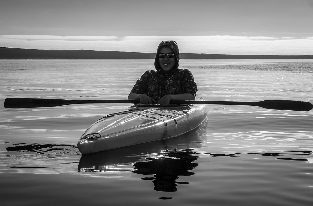 Kayaking on the Hudson bay is a great pleasure.