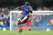 Victor Moses of Chelsea in action. Premier league match, Chelsea v Leicester city at Stamford Bridge in London on Saturday 15th October 2016.<br /> pic by John Patrick Fletcher, Andrew Orchard sports photography.
