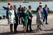 Koningsdag in Dordrecht / Kingsday in Dordrecht<br /> <br /> Op de foto / On the photo: <br /> <br />  Prinses Anita en prins Pieter-Christiaan , Prinses Marilene en prins Maurits , Prins Constantijn en prinses Laurentien , Prins Bernhard jr.en prinses Annette