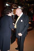 PRINCE RUPERT LOEWENSTEIN, Book launch for ' Daughter of Empire - Life as a Mountbatten' by Lady Pamela Hicks. Ralph Lauren, 1 New Bond St. London. 12 November 2012.