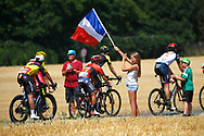 Illustration, fans, Scenery, french flag, during the 105th Tour de France 2018, Stage 8, Dreux - Amiens Metropole (181km) on July 14th, 2018 - Photo Luca Bettini / BettiniPhoto / ProSportsImages / DPPI