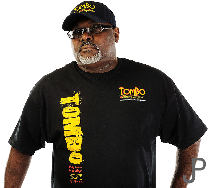 Drag racer and engine builder Tommy Bolton with Tombo Racing