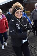 De Hollandse 100 op FlevOnice, een sportief evenement ter ondersteuning van onderzoek naar lymfeklierkanker. Een oer-Hollandse duatlon bestaande uit twee onderdelen: schaatsen en fietsen. <br /> <br /> The Dutch 100 on FlevOnice, a sporting event to support research into lymphoma. A traditional Dutch duathlon consisting of two components: skating and cycling.<br /> <br /> Op de foto:  Prinses Margriet