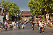 Changmen Gate at Shantang Street  in Suzhou, China.