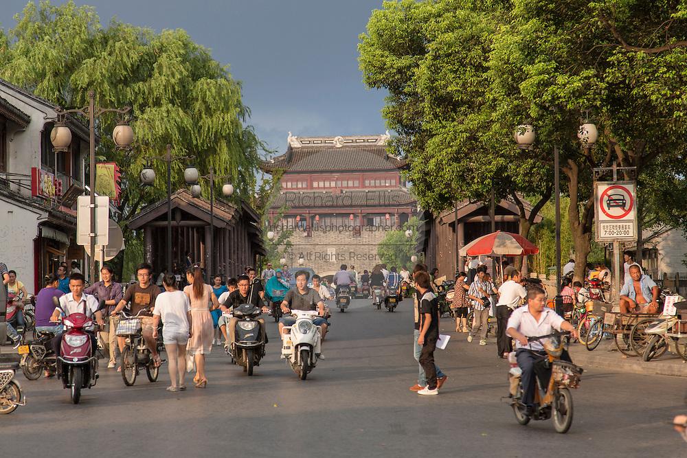 Changmen Gate at Shantang Street  in Suzhou, China.
