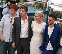 Danny Morgan,  Garret Hedlund, Kirsten Dunst, Tom Sturridge, at the On The Road photocall at the 65th Cannes Film Festival France. The film is based on the book of the same name by beat writer Jack Kerouak and directed by Walter Salles. Wednesday 23rd May 2012 in Cannes Film Festival, France.