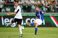Fotball , 7. august 2013<br /> UEFA Champions League Third Qualifying Round Second Match in Warsaw Legia Warsaw Molde FK<br /> Tomasz Jodlowiec <br /> Jo Inge Berget , Molde<br /> <br /> Norway only