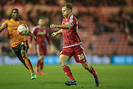 Tomáš Kalas (on loan from Chelsea) (Middlesbrough) runs with the ball during the Sky Bet Championship match between Middlesbrough and Wolverhampton Wanderers at the Riverside Stadium, Middlesbrough, England on 4 March 2016. Photo by Mark P Doherty.