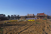 A084ND Construction site of new housing development Rendlesham Suffolk England