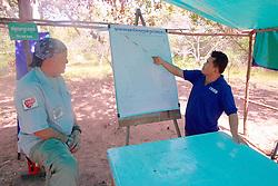 Bill Morse and Aki Ra Explaining Map Of Landmine Field