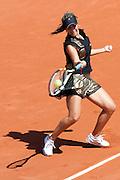 Roland Garros. Paris, France. 23 Mai 2010..La joueuse francaise Aravane REZAI joue contre Heidi EL TABAKH...Roland Garros. Paris, France. May 23rd 2010..French player Aravane REZAI against Heidi EL TABAKH.