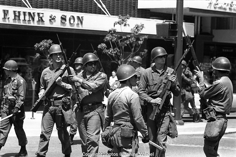 National Guard take over downtown Berkeley California in Student Riots of 1978