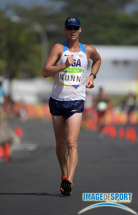 Aug 19, 2016; Rio de Janeiro, Brazil; John Nunn (USA) places 43rd in the 50km race walk in 4:16:12 during the Rio 2016 Summer Olympic Games at Pontal.
