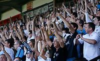 Photo: Steve Bond.<br />Walsall v Swansea City. Coca Cola League 1. 25/08/2007. Swansea fans celebrate