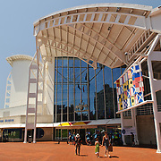 Main entrance of the Australian National Maritime Museum in Darling Harbour in Sydney