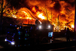 December 16, 2018 - Wroclaw, Poland - December 17 2018 Poland Fire of an illegal garbage dump in Wroclaw, Poland Credit: Krzysztof Kaniewski/ZUMA Press (Credit Image: © Krzysztof Kaniewski/ZUMA Wire)