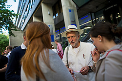 **File picture. Unite union have selected Jeremy Corbyn as their preferrence to be the next Labour Party leader**© Licensed to London News Pictures. 06/06/2015. London, UK. Jeremy Corbyn speaking to supporters outside the venue.  Current Labour Leadership candidates attend a debate at the Fabien Society Conference, held at the institute of Education in London. Photo credit: Ben Cawthra/LNP