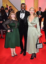 (left to right) Guest, Chucky Venn and Maddy Hill attending the National Television Awards 2019 held at the O2 Arena, London. PRESS ASSOCIATION PHOTO. Picture date: Tuesday January 22, 2019. See PA story SHOWBIZ NTAs. Photo credit should read: Ian West/PA Wire