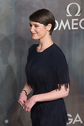 Tate Modern, London, April 26th 2017.  Gemma Arterton arrives at the Tate Modern in London for the 'Lost In Space' 60th anniversary event for the Omega Speedmaster watch.