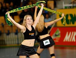Dancers at handball game RK Celje Pivovarna Lasko  - SC Magdeburg in the semifinal of EHF 2007 Men`s Champions Trophy, on October 20, 2007 in Zlatorog Hall, Celje, Slovenia.   (Photo by Vid Ponikvar / Sportal Images).