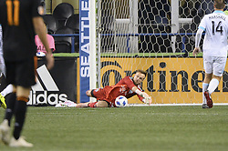 October 8, 2018 - Seattle, Washington, U.S - Seattle goal keeper STEFAN FREI (24) saves a late 2nd half shot as the Houston Dynamo visits the Seattle Sounders in a MLS match at Century Link Field in Seattle, WA. Seattle won the match 4-1. (Credit Image: © Jeff Halstead/ZUMA Wire)