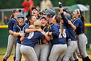 The Middletown South team celebrates after winning the NJSIAA Central Jersey Group III final game against South Plainfield held at Middletown High School South on June 3, 2016.