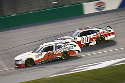 July 13, 2018 - Sparta, Kentucky, United States of America - John Hunter Nemechek (42) and Cole Custer (00) battle for position during the Alsco 300 at Kentucky Speedway in Sparta, Kentucky. (Credit Image: © Chris Owens Asp Inc/ASP via ZUMA Wire)