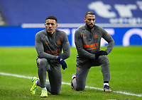 Football - 2020 / 2021 Scottish Premier League - Glasgow Rangers vs St Johnstone - Ibrox stadium<br /> <br /> James Tavernier of Rangers and Kemar Roofe of Rangers during the warm up<br /> <br /> COLORSPORT/BRUCE WHITE