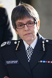© licensed to London News Pictures. London, UK 19/12/2013. Assistant Commissioner Cressida Dick giving a statement to media after the court found Michael Adebolajo and Michael Adebowale guilty of the murder of soldier Lee Rigby in Woolwich, south-east London in May. Photo credit: Tolga Akmen/LNP