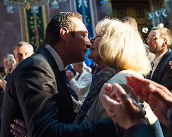 04.05.2015, Parlament, Wien, AUT, FPÖ, Feier anlässlich des 10 jährigen Jubiläums des Bundesparteiobmanns HC Strache. im Bild Klubobmann FPÖ Heinz-Christian Strache mit seiner Mutter Marion // Leader of the parliamentary group FPOe Heinz Christian Strache with his mother Marion during 10 years anniversary leader of the parlaimatary group of the austrian freedom party at Parliament in Vienna, Austria on 2015/05/04. EXPA Pictures © 2015, PhotoCredit: EXPA/ Michael Gruber