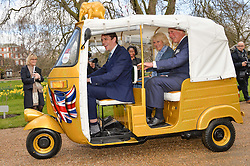 Thursday 26th March 2015, The Elephant Family charity and Quintessentially Foundation announced the launch of 'Travels To My Elephant' – a once-in-a-lifetime rickshaw race taking place in India in November 2015. The official launch of the venture took place at Clarence House at an exclusive reception hosted by TRH The Prince of Wales and The Duchess of Cornwall,  joint patrons of Elephant Family.<br /> Picture Shows:- Ben Elliot, The prince of Wales and the Duchess of Cornwall